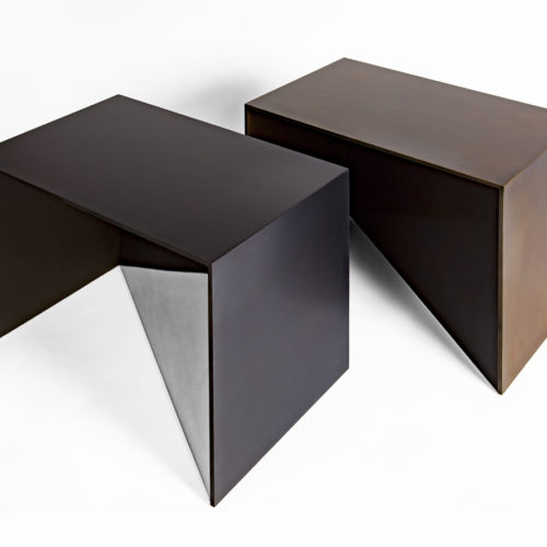 Gunner Footstool- 2 Shot - Black and bronze