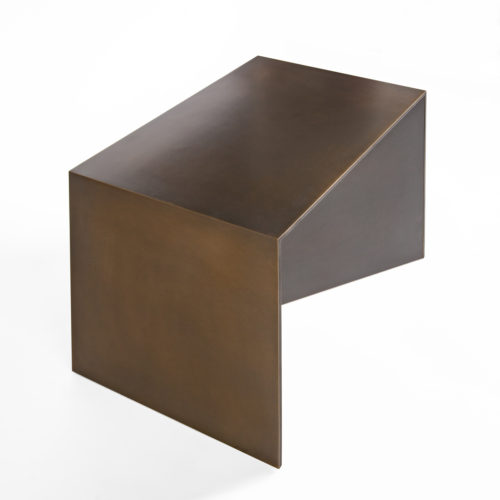 Gunner Footstool- side angle - Bronze